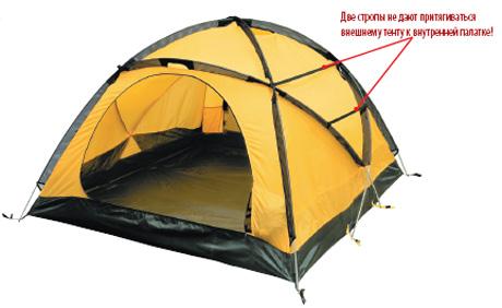Внутренняя палатка может быть установлена отдельно